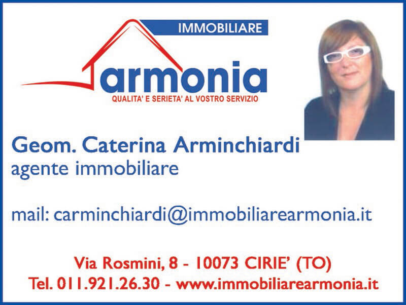 Geom. Caterina Arminchiardi - Cel. 339 1121532 - carminchiardi@immobiliarearmonia.it